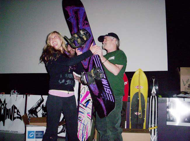 Spread the Shred Movie Premier raffle