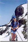 Oldest daughter: Summer firefighter /spring & winter cutter,  Will hike up anytime! May '04 Castle Lake ridgeline